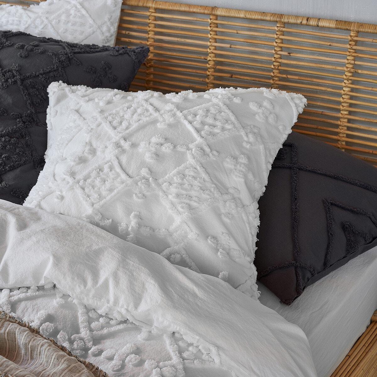 Pintu オーガニックコットン タフテッド枕カバー