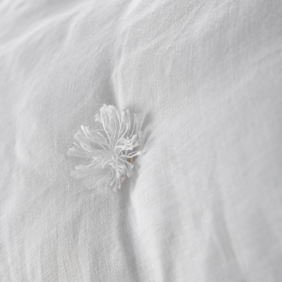Abella ウォッシュドリネン キルト中綿入りベッドスプレッド