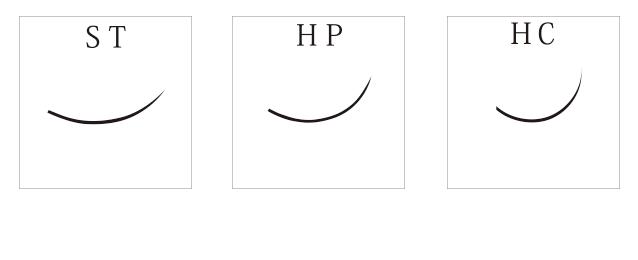 HPカール24列(Cカール/プレミアムシルクエクステ)