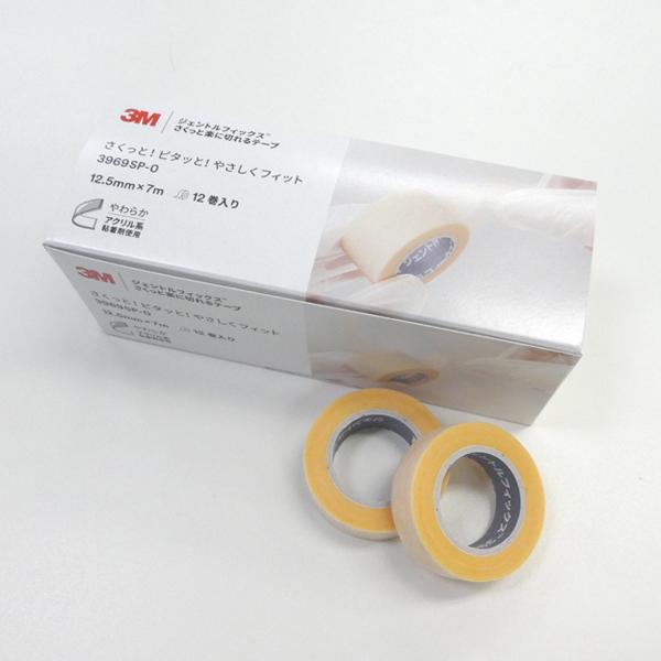 【3M】ジェントルフィックス さくっと楽に切れるテープ 1ケース (12.5mm×7mm 12巻)