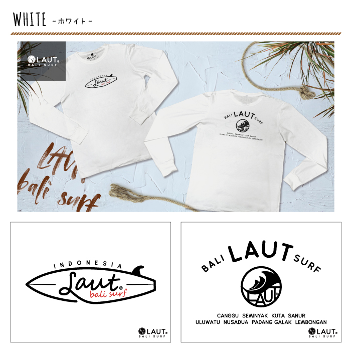 LAUT BALI SURF サーフ ロングスリーブ 長袖 Tシャツ LSR-m2