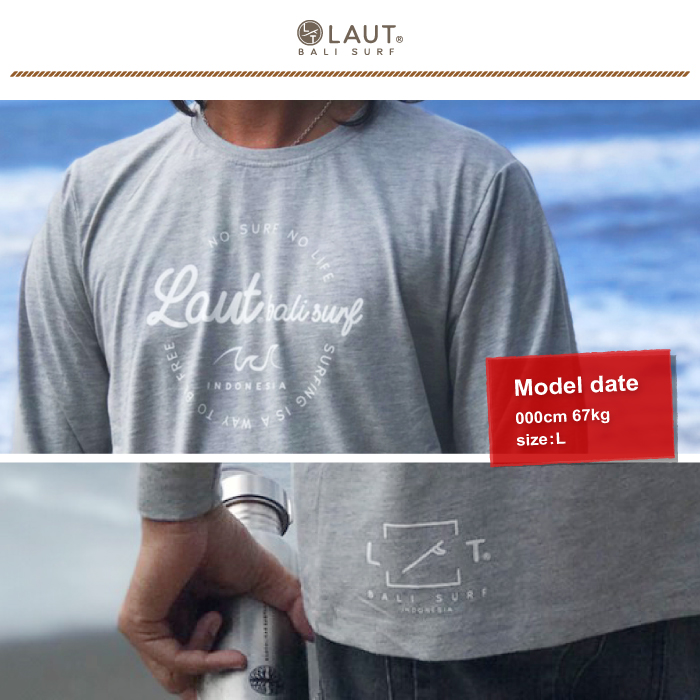LAUT BALI SURF サーフ ロングスリーブ 長袖 Tシャツ LSR-m3