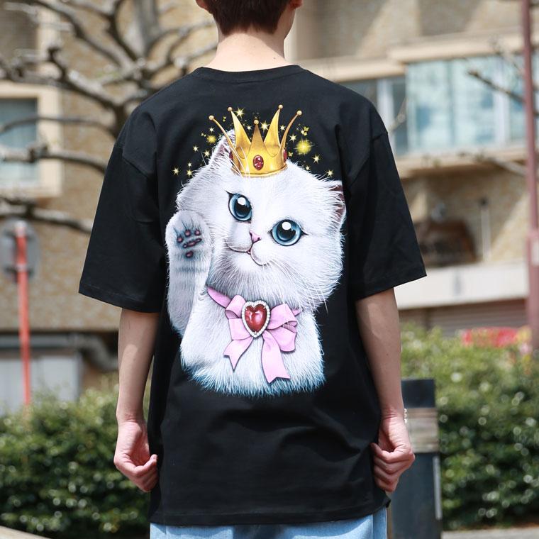 蓄光プリントプリンセスキャットTシャツ【ペア対応】