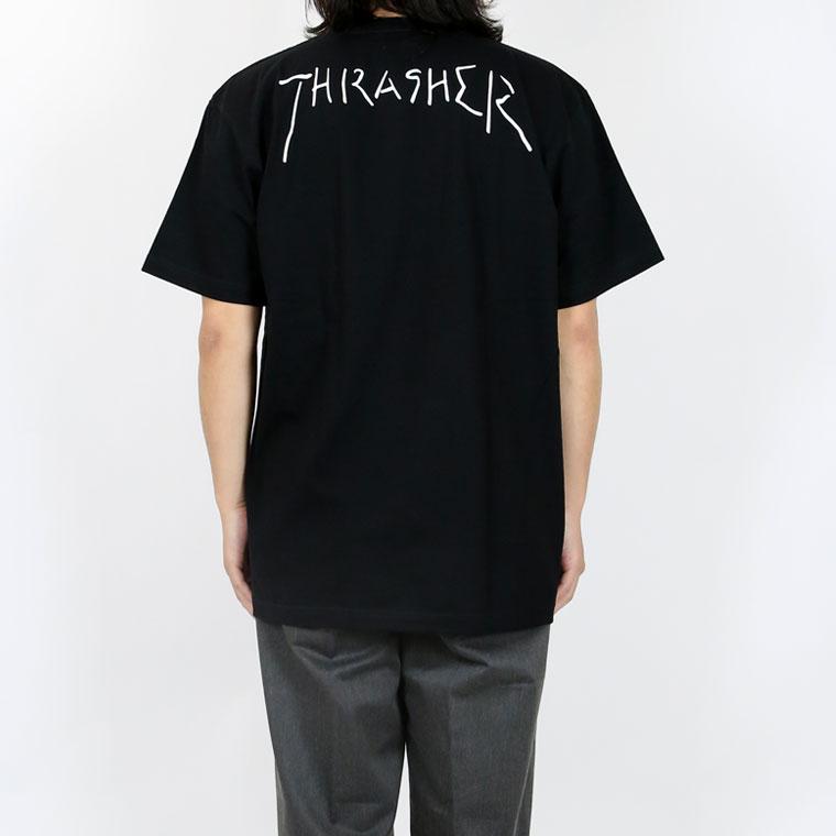 THRASHER×GONZ手書きネームロゴ半袖Tシャツ