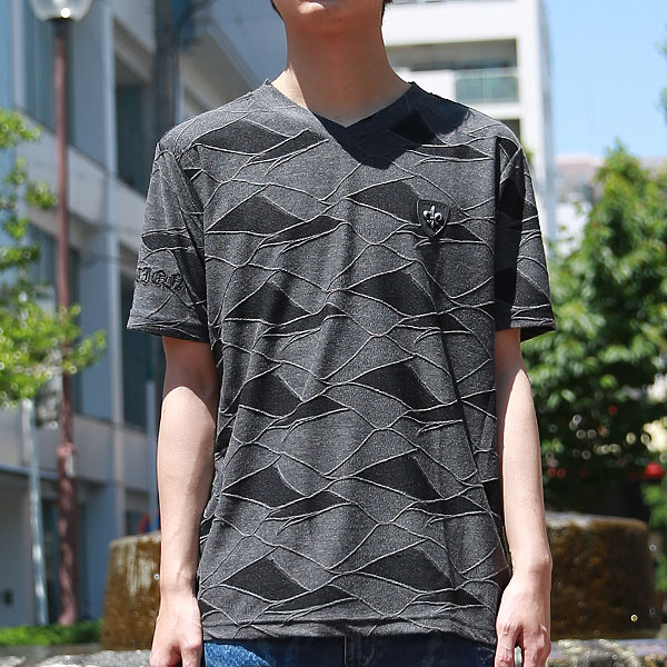 膨れジャガードユリワッペン半袖Tシャツ