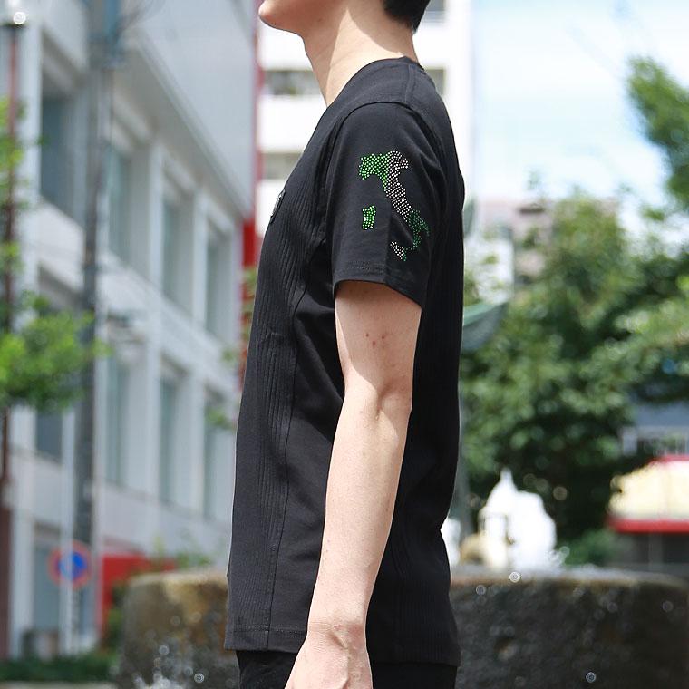 ヴィオラ エナメル合皮ワッペン半袖Tシャツ