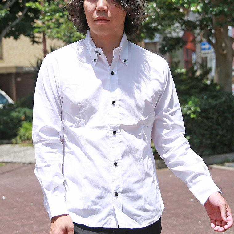 日本製ブロードデュエボタンダウン長袖シャツ