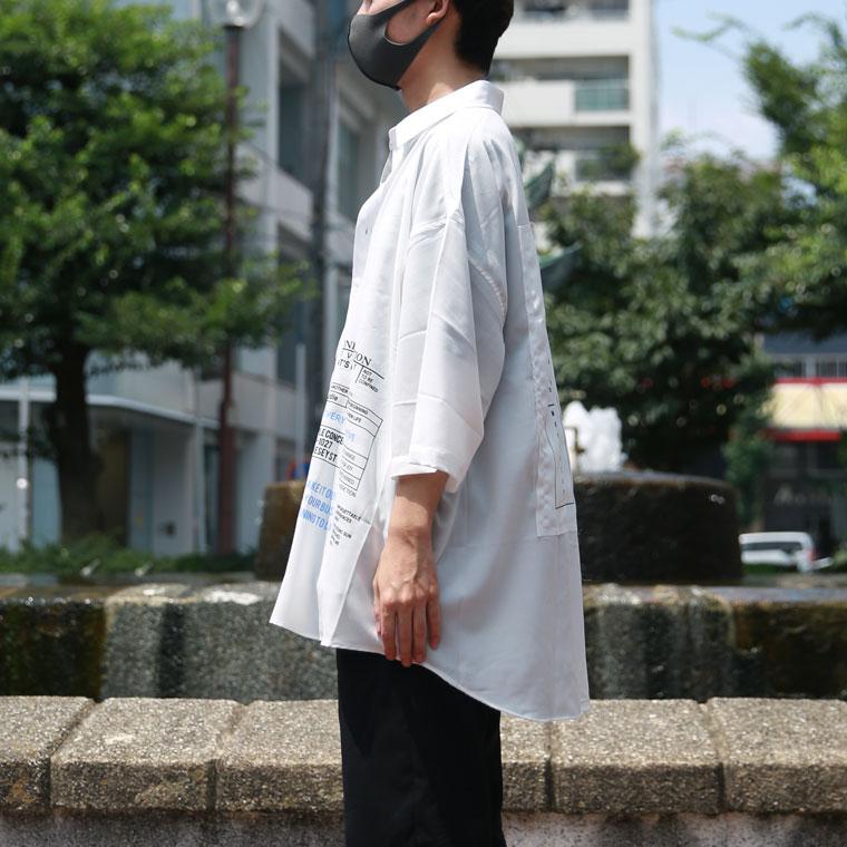 ワッペン付BIGシャツ