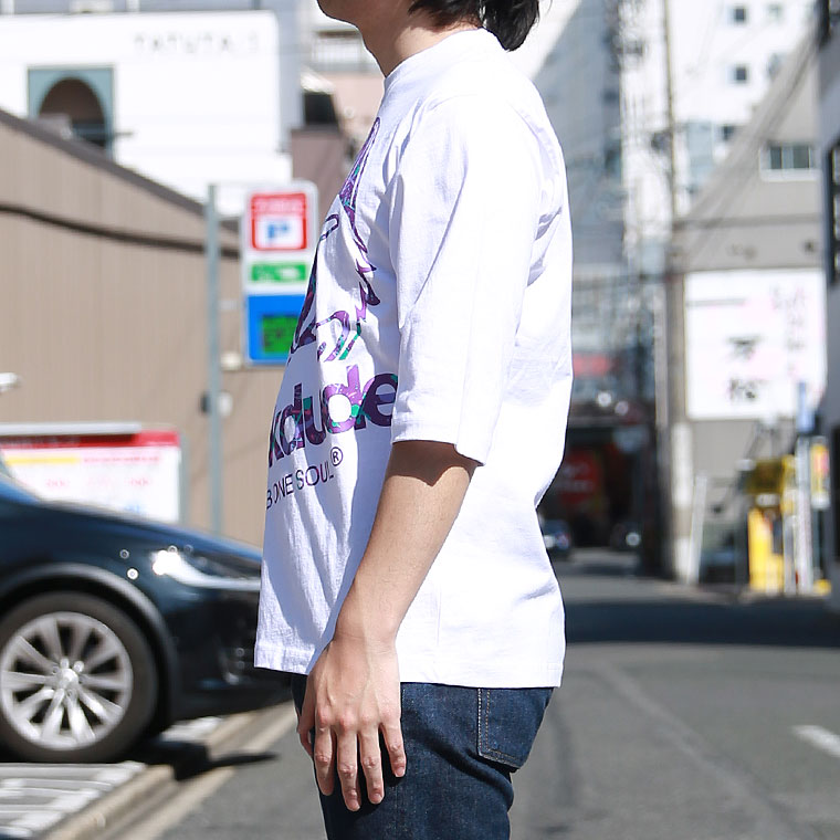 ビックフェイスダック半端袖Tシャツ【ペア対応】