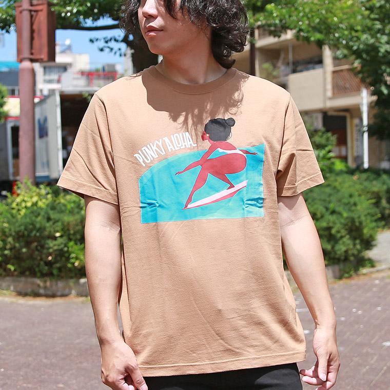 パンキーアロハサーフィン半袖Tシャツ【ペア対応】