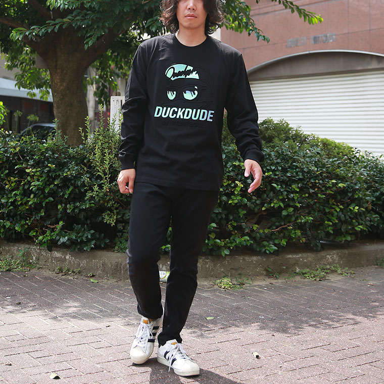 ダックエンボス長袖Tシャツ