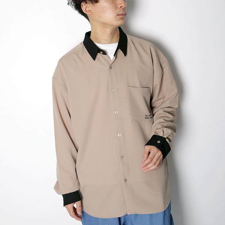 バックプリントStandingGirlシャツ