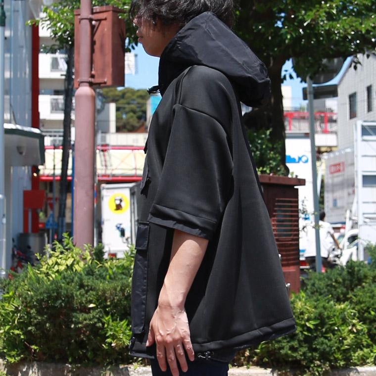 フロントビッグポケット半袖ワイドパーカー【ペア対応】