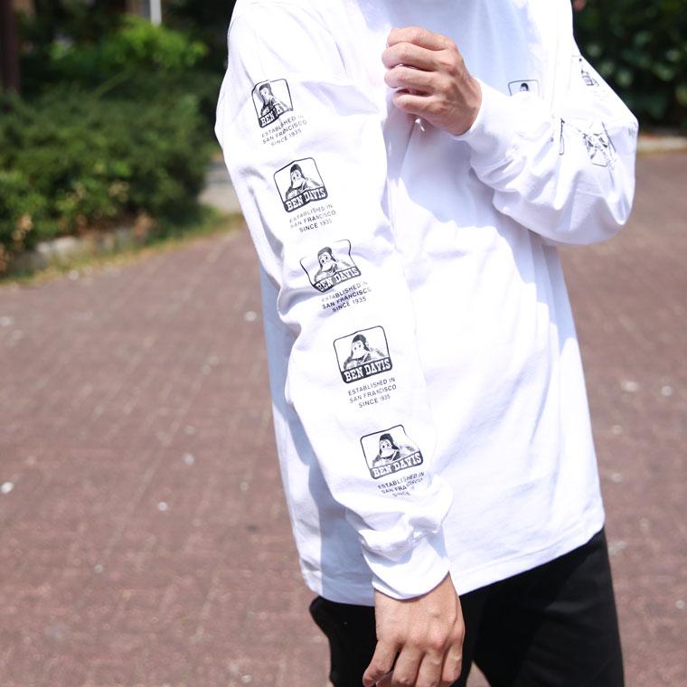 ベンデイビス背面アイコン長袖Tシャツ