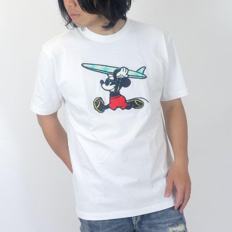サーフミッキーサガラ刺繍半袖TEE(ペア対応)