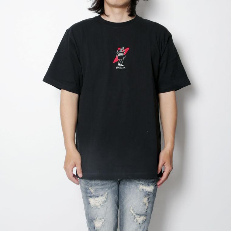 コーラ女性刺繍エモ半袖TEE(ペア対応)