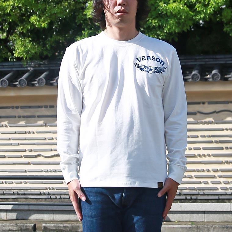 ベア天エンボスプリント長袖Tシャツ