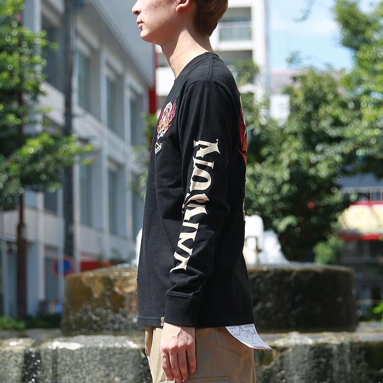 ファイヤースカル長袖Tシャツ