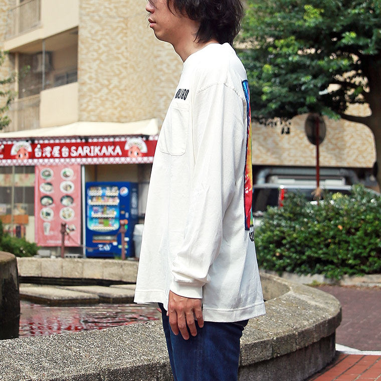 タイダイ柄バックプリント長袖Tシャツ【ペア対応】