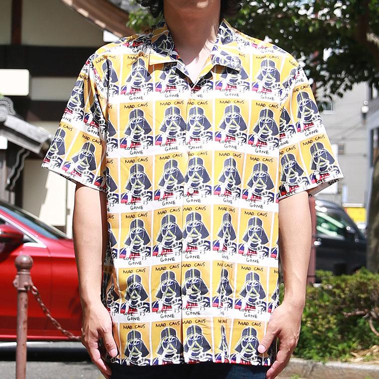 マークゴンザレス総柄半袖シャツ