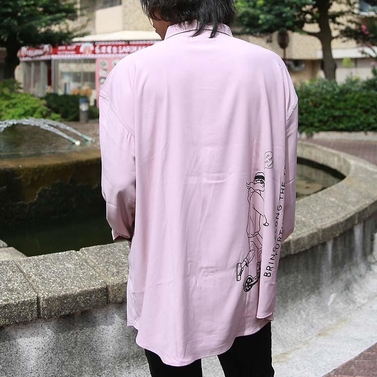 イラスト手書き風ビッグシャツ