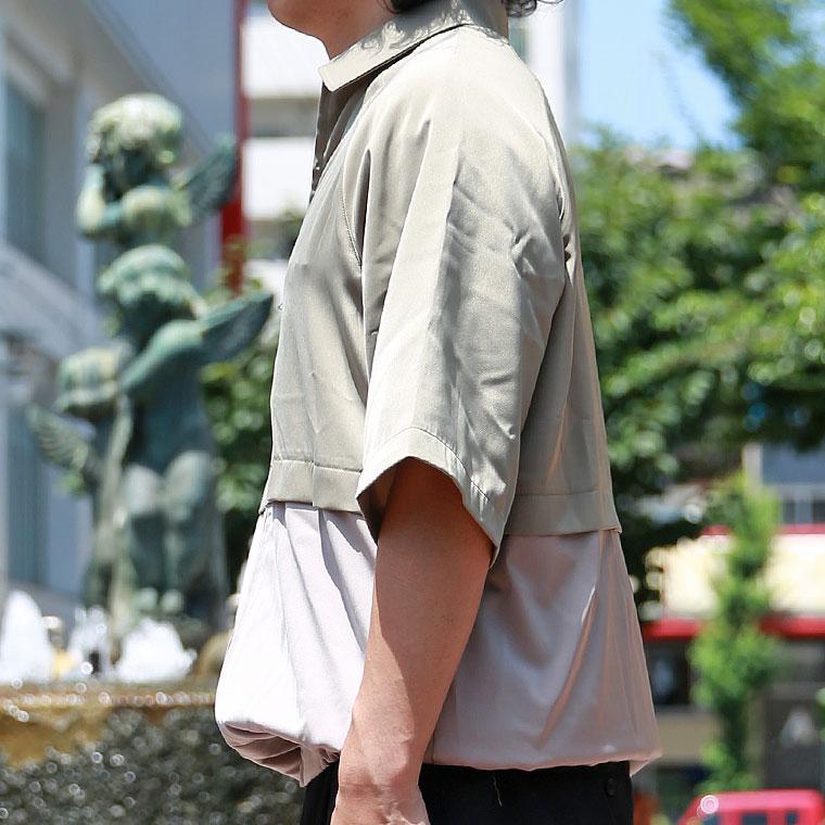 バイカラーZIPシャツ