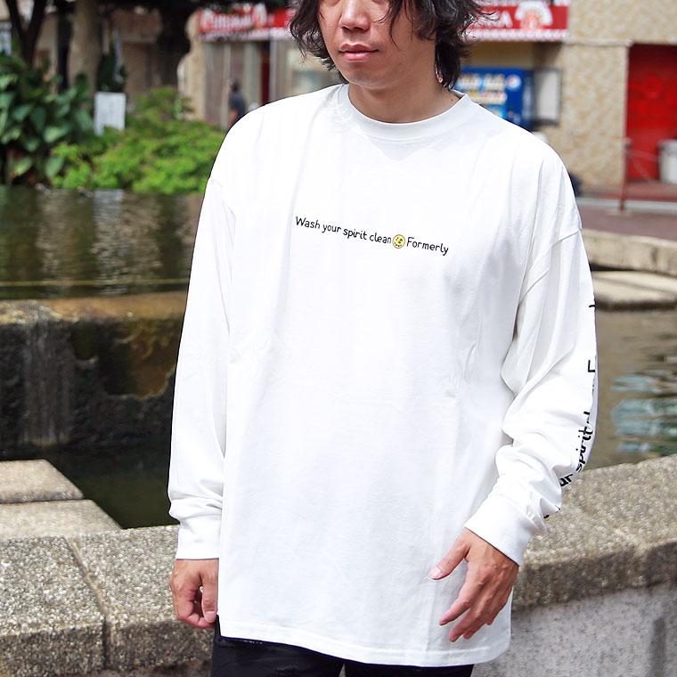 イラスト英字プリントBIG長袖Tシャツ