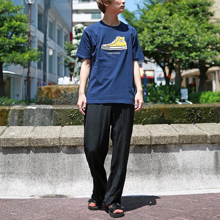 コンバースブロックシューズ半袖Tシャツ【ペア対応】