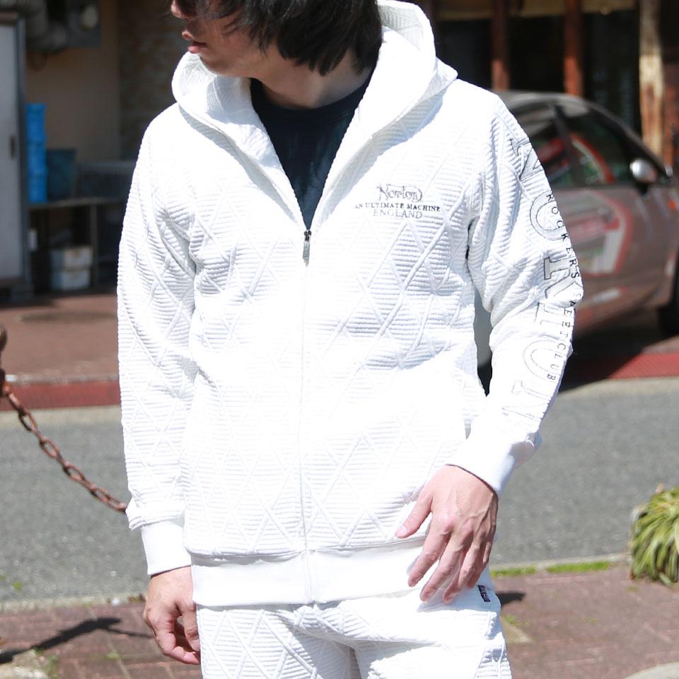 撥水ジオメトリックジャガードアームロゴパーカー【ノートン】