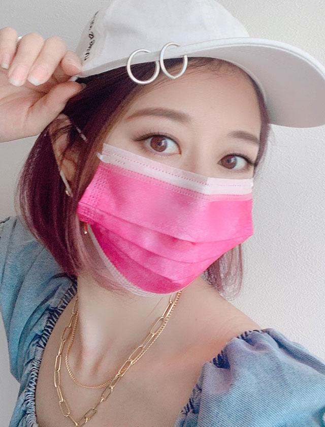 虹色カラフル3層ファッション不織布マスク(各色×1枚計10枚入)