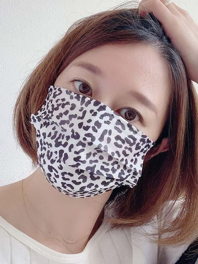 アニマル柄不織布3層ファッションマスク(10枚入)