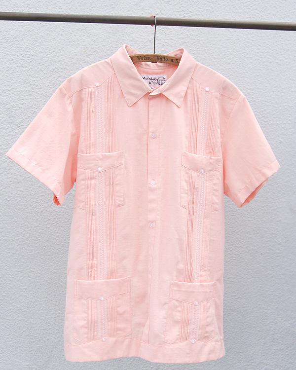 tesoro / キューバシャツ / サーモンピンク