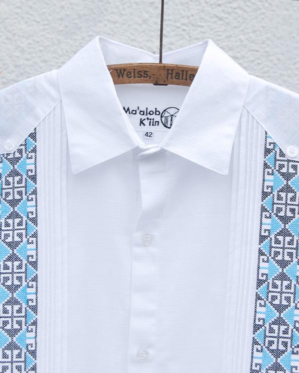 tesoro / キューバシャツ / ホワイト×キカガク