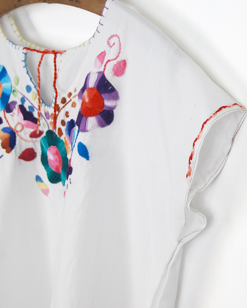 tesoro / 刺繍ブラウス /ホワイトA