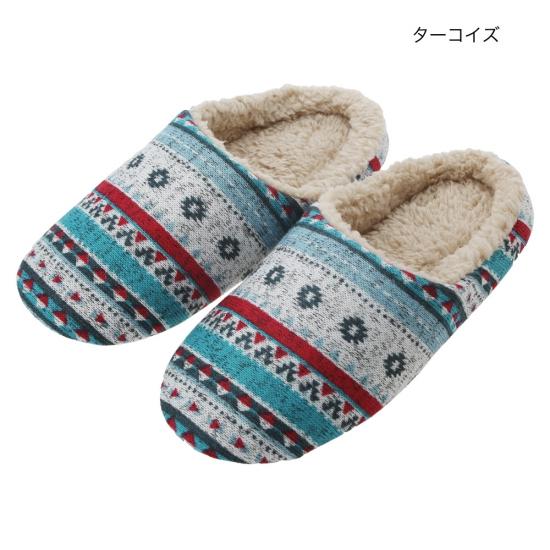 ≪30%OFF≫ shanti / ニットプリントルームシューズ レイヤーチマヨ