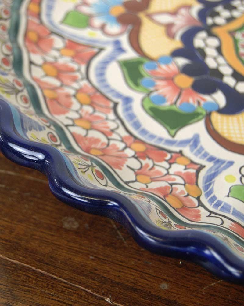 tesoro / imperfect・セラミック丸皿LL /ブルー