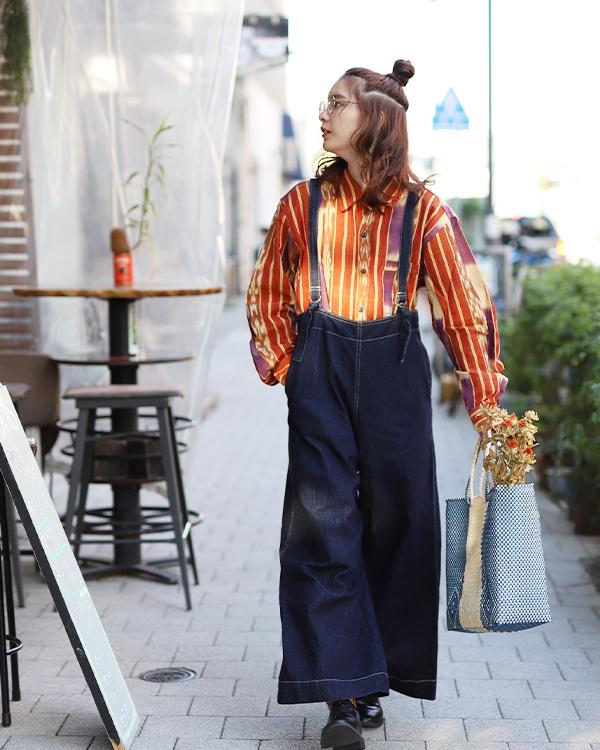 tesoro / カスリシャツ /オレンジ