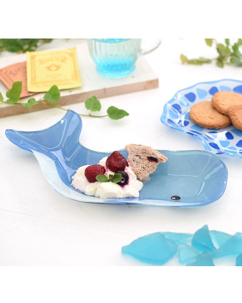 shanti / ガラスプレートS /クジラ