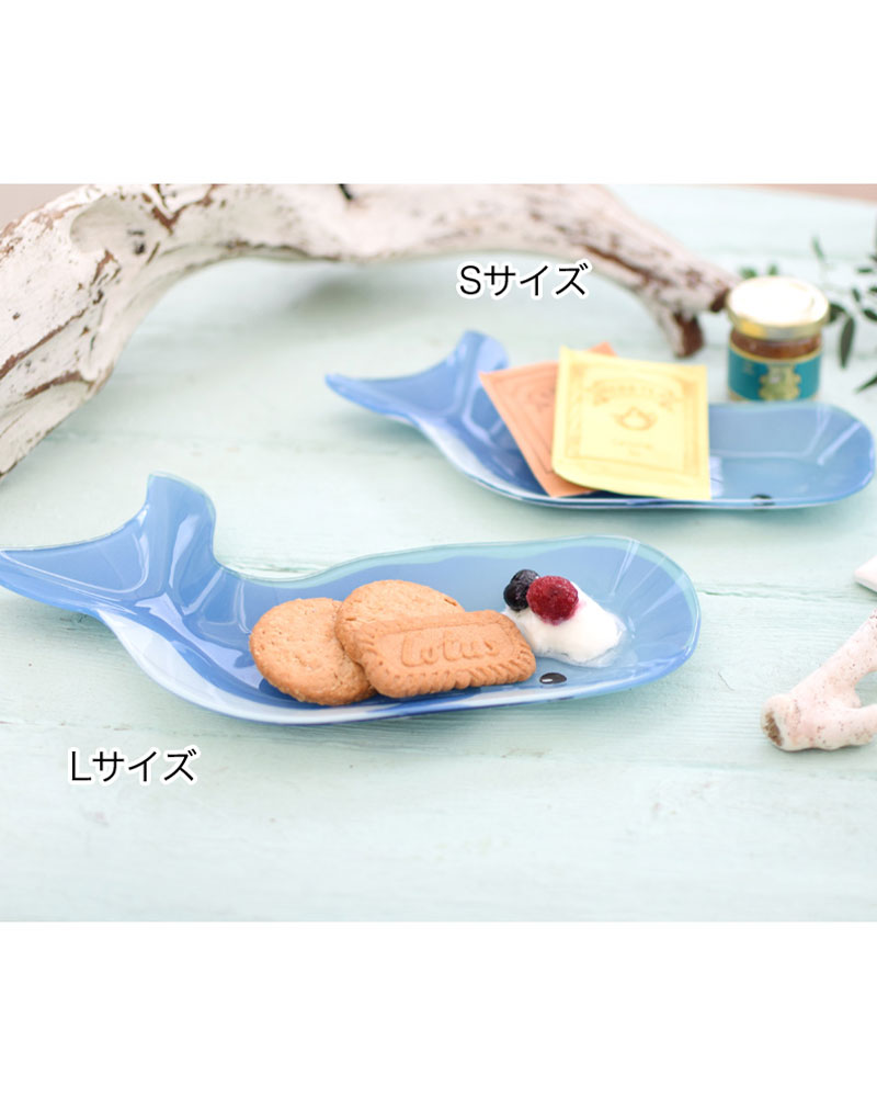 shanti / ガラスプレートL /クジラ