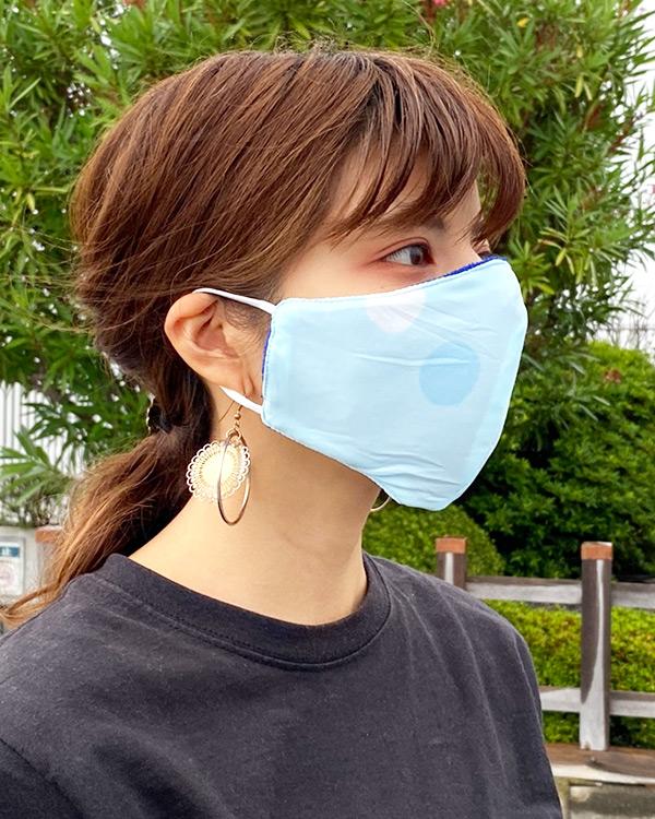 【価格改定】shanti / 冷感オリジナルマスク ドットブルー
