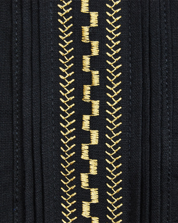 tesoro / キューバシャツ / ブラック×ゴールド