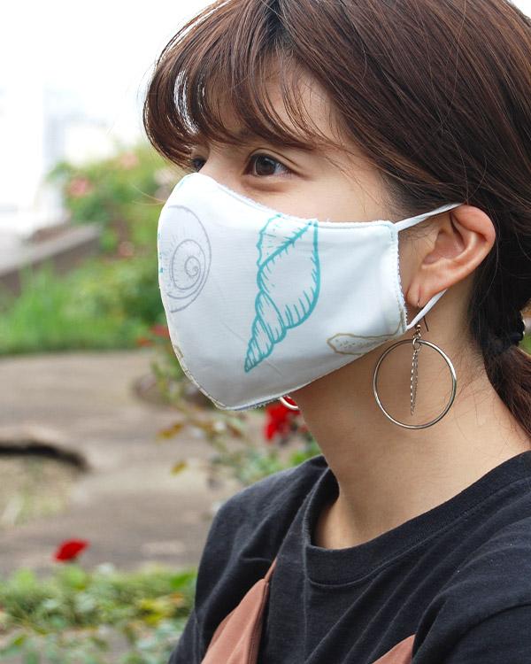 【7月中旬お届け】shanti / 冷感オリジナルマスク シェル
