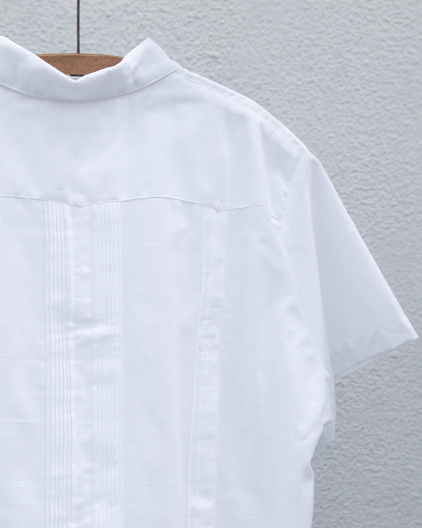 tesoro / キューバシャツ / ホワイト×ブルー
