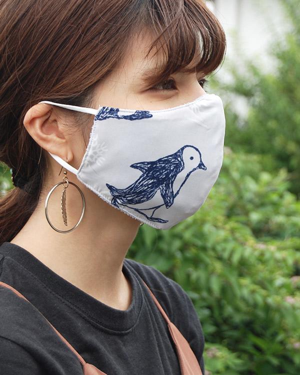 【価格改定】shanti / 冷感オリジナルマスク ペンギンナチュラル