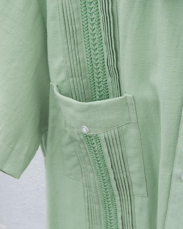 tesoro / キューバシャツ / ライトグリーン