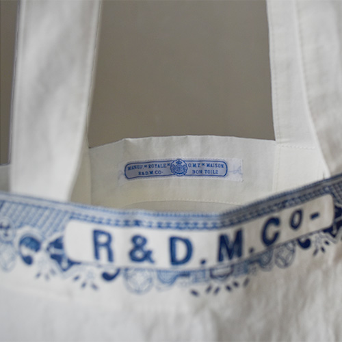 (3716) / R&D.M.Co-/OLDMANS TAILOR(アールアンドディーエムコー/オールドマンズテーラー) / LONDON BLUE WILLOW TOTE BAG(ロンドンブルーウィロートートバッグ ) / メール便対応可