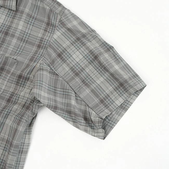 ◇(NT3107N) / THE NORTH FACE PURPLE LABEL(ザ・ノースフェイス パープルレーベル) / Madras Field H/S Shirt(マドラスフィールドハーフスリーブシャツ)【メール便対応可・メール便送料無料】
