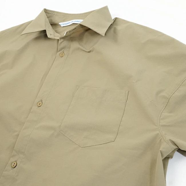 (90011568) / NECESSARY or UNNECESSARY(ネセサリーオアアンネセサリー) / SLOPING SHIRTS PE/リップストップシャツ / メール便対象外