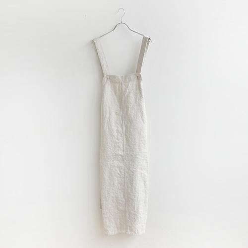 (13501011) / Vlas Blomme(ヴラスブラム) / Work Linen Wild Double Gauze ジャンパースカート (ウォークリネンダブルガーゼジャンパースカート) / メール便対象外