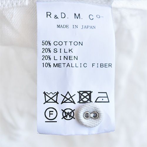 (4199) / R&D.M.Co/OLDMANS TAILOR(アールアンドディーエムコー/オールドマンズテイラー) / STEEL LINEN DRAPE LONG SHIRT(スチールリネンドレープロングシャツ) / メール便対象外